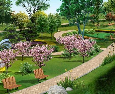 公园当季施工效果